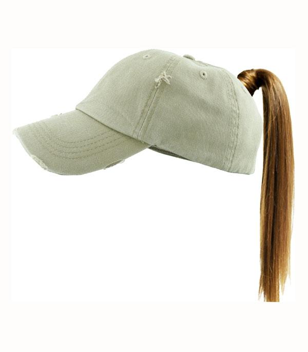 New Arrival :: Wholesale KBEthos Messy Bun Ponytail Cap