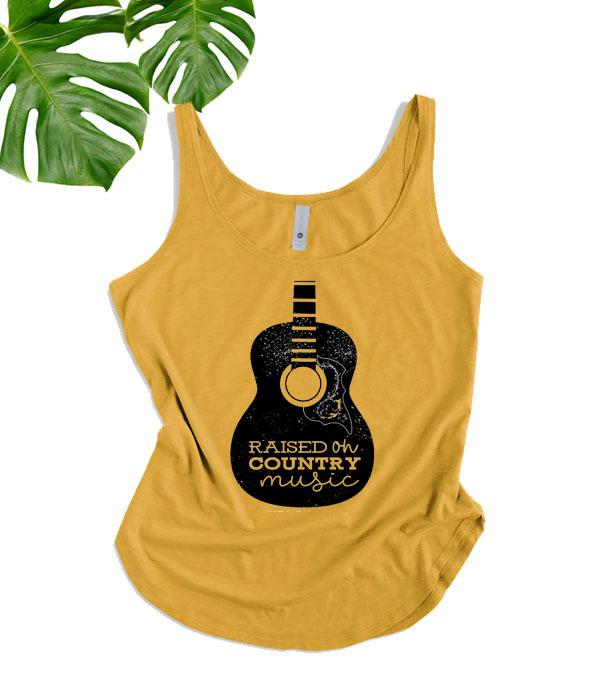 New Arrival :: Wholesale Western Raised On Country Music Tank Top