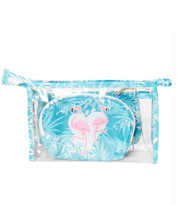 New Arrival :: Wholesale Flamingo Cosmetic Toiletry Bag