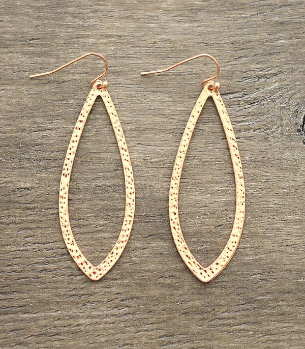 New Arrival :: Wholesale Hammered Leaf Gold Earrings