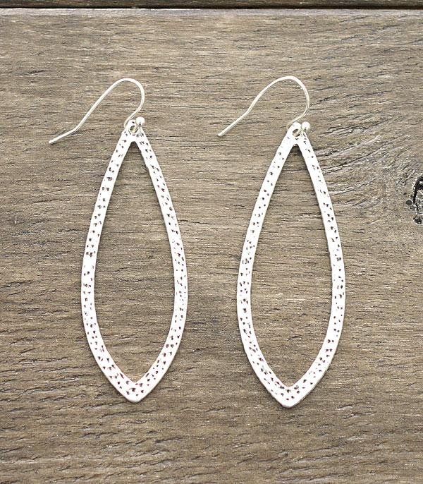 New Arrival :: Wholesale Hammered Leaf Silver Earrings