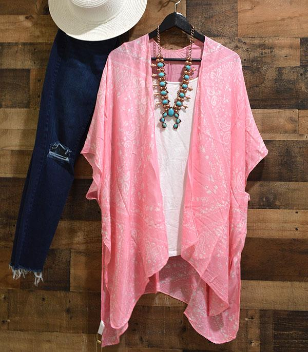 New Arrival :: Wholesale Paisley Pink Kimono Cover-Up