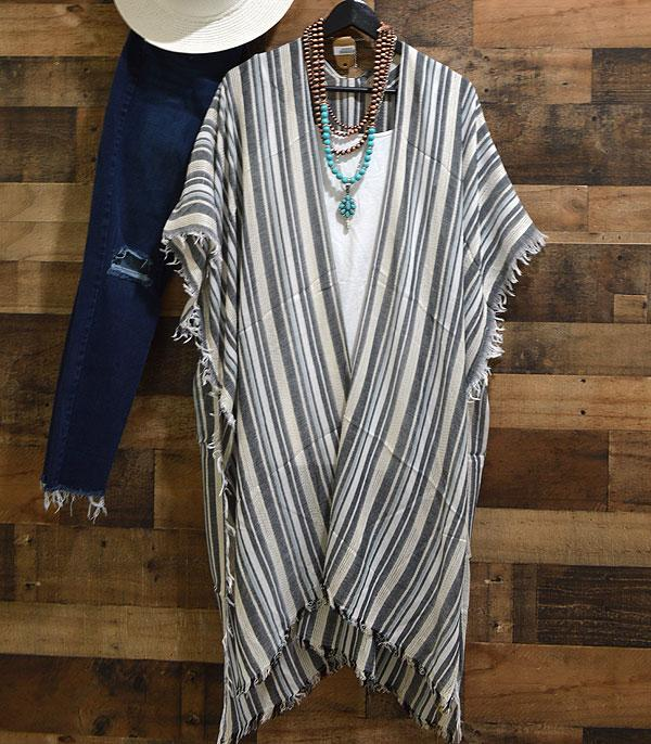 New Arrival :: Wholesale Stripe Kimono Cover-Up