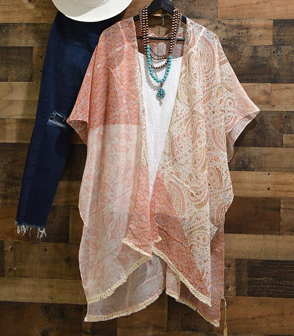 New Arrival :: Wholesale Floral Paisley Kimono Cover-Up