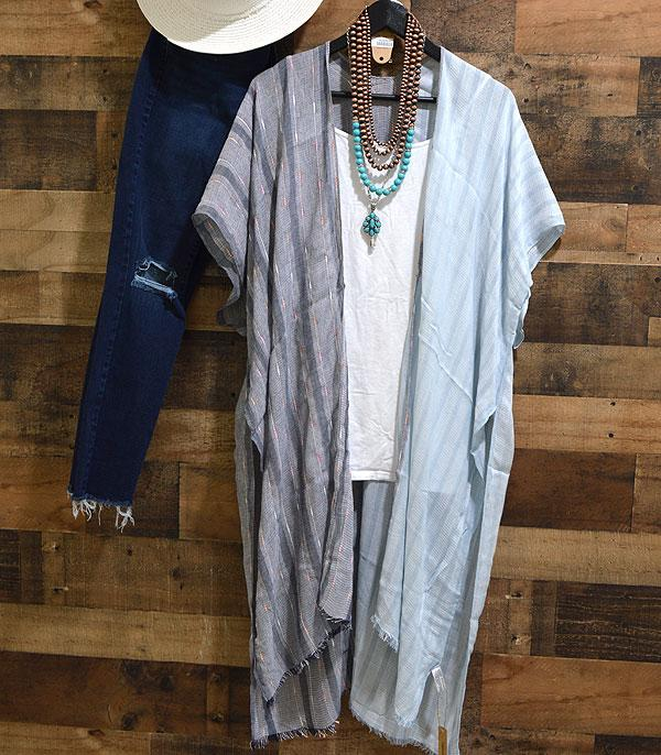 WHAT'S NEW :: Wholesale Two Tone Color Kimono Cover-Up