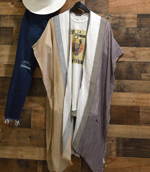 WHAT'S NEW :: Wholesale Multi Stripe Kimono Cover-Up
