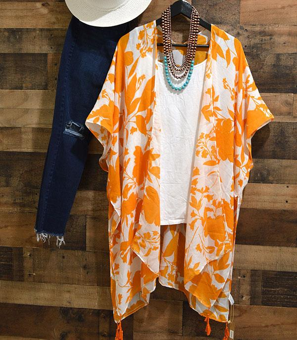 WHAT'S NEW :: Wholesale Gold Leaves Mustard Kimono Cover-Up