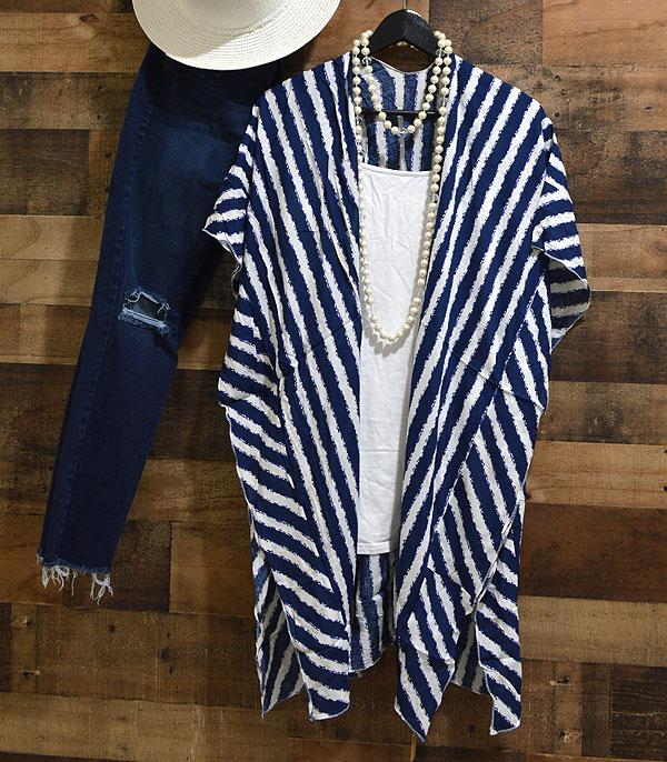 WHAT'S NEW :: Wholesale Stripe Kimono Cover-Up