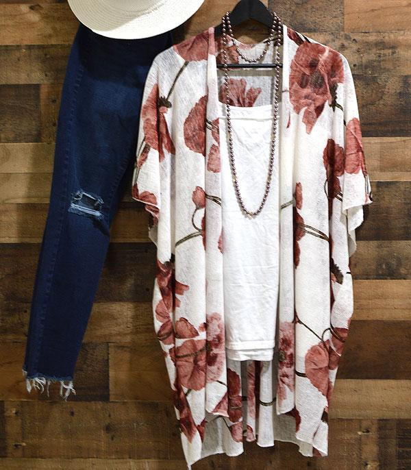 WHAT'S NEW :: Wholesale Floral Burnout Kimono Cover-Up