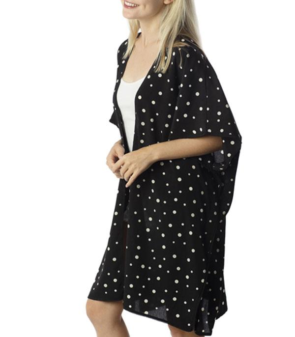 WHAT'S NEW :: Wholesale Polka Dot Kimono CoverUp