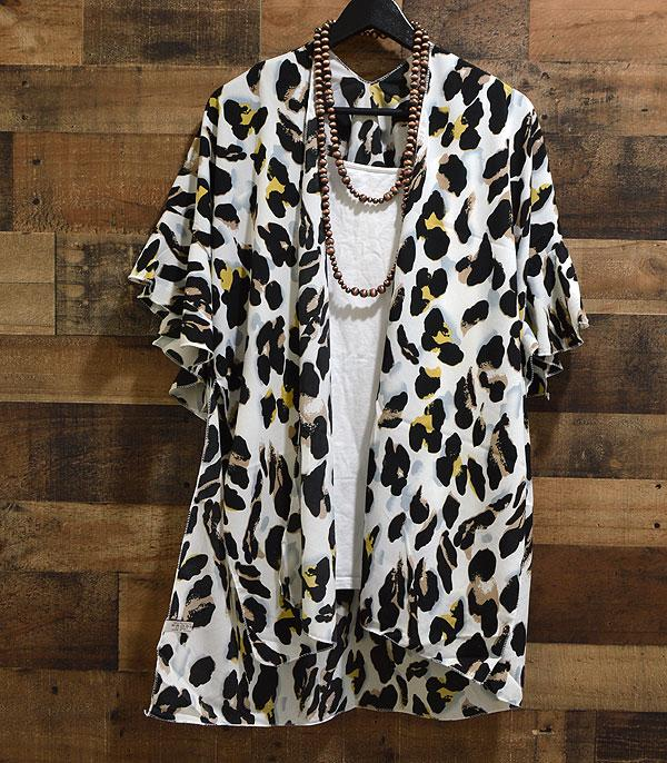 WHAT'S NEW :: Wholesale Leopard Print Kimono CoverUp