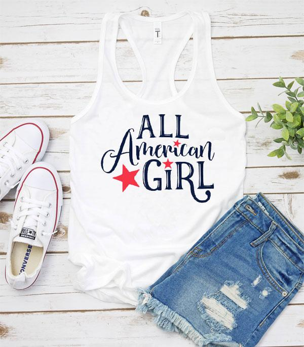New Arrival :: Wholesale All American Girl Vintage Tank Top
