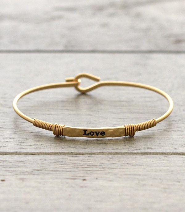 New Arrival :: Wholesale Inspirational Love Thin Wire Bracelet