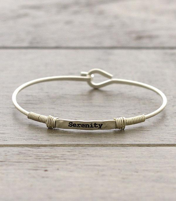 New Arrival :: Wholesale Inspirational Serenity Thin Wire Bracele