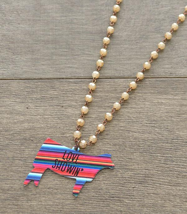 New Arrival :: Wholesale Serape Farm Animal Showin Necklace