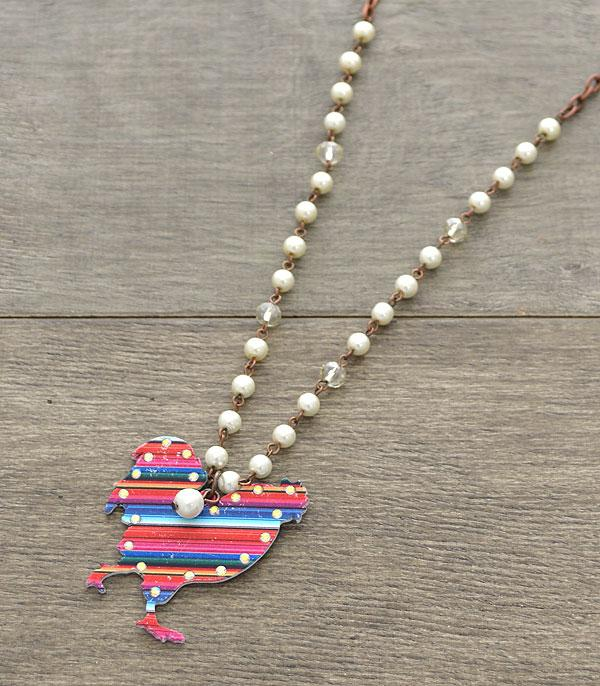 New Arrival :: Wholesale Serape Rustic Farm Animal Necklace