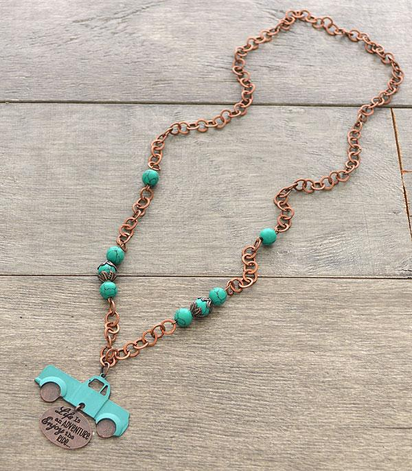 New Arrival :: Wholesale Rustic Truck Necklace