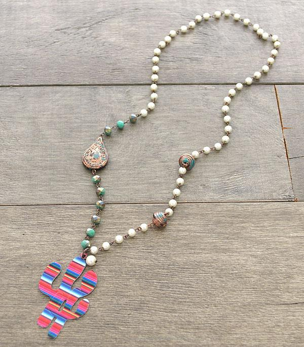 New Arrival :: Wholesale Serape Rustic Cactus Necklace