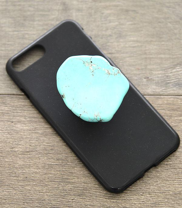 New Arrival :: Wholesale Turquoise Stone Phone Grip Accessory
