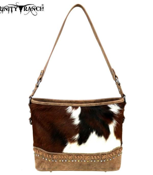 New Arrival :: Wholesale Trinity Ranch Hair-On Leather Hobo