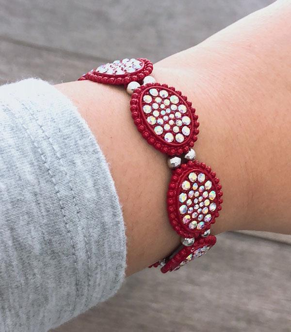 <font color=red>VALENTINE'S</font> :: Wholesale Stone Oval Stretch Bracelet