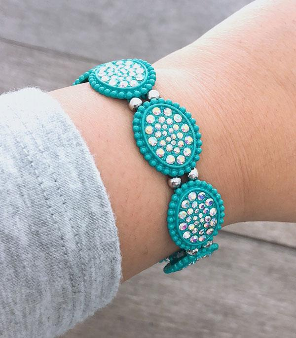 New Arrival :: Wholesale Stone Oval Stretch Bracelet