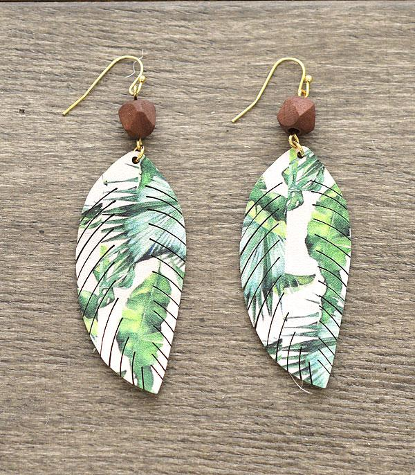 New Arrival :: Wholesale Tropical Leaf Fashion Earrings