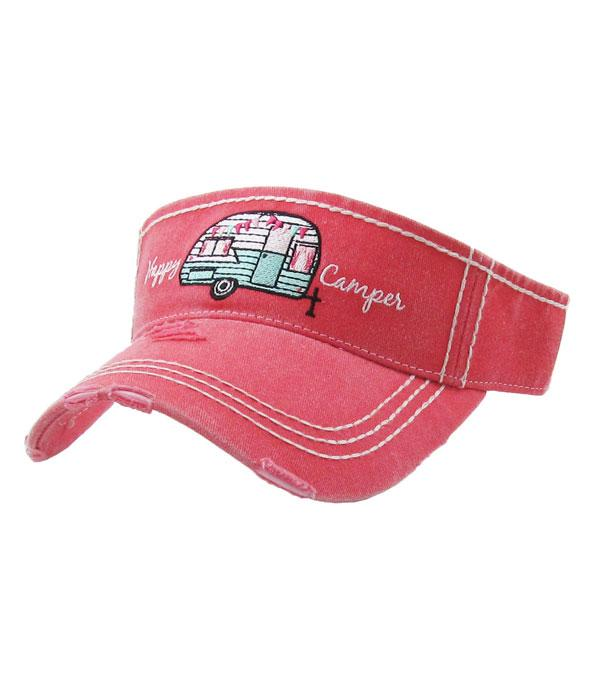 New Arrival :: Wholesale KB Ethos Happy Camper Vintage Visor