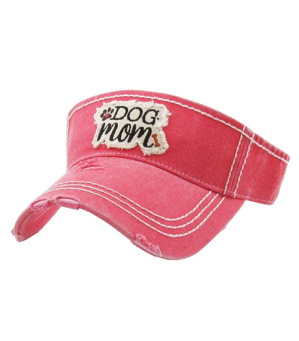 New Arrival :: Wholesale KB Ethos Dog Mom Vintage Visor