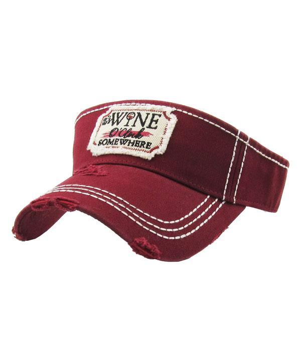 New Arrival :: Wholesale KB Ethos Wine OClock Vintage Visor