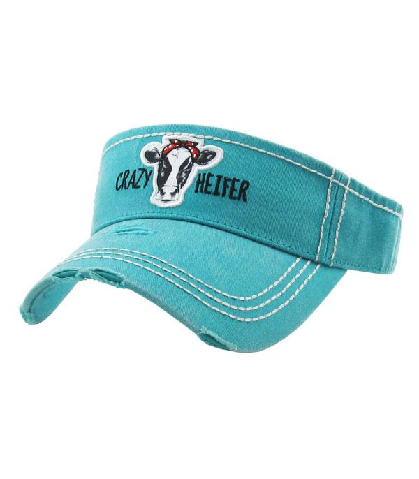 New Arrival :: Wholesale KB Ethos Crazy Heifer Vintage Visor