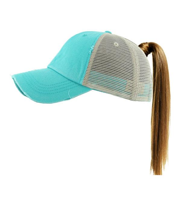 New Arrival :: Wholeslae Ponytail Messy Bun Mesh Ballcap