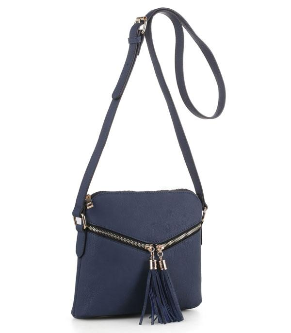 New Arrival :: Wholesale Zipper Tassel Crossbody Bag BW-2314
