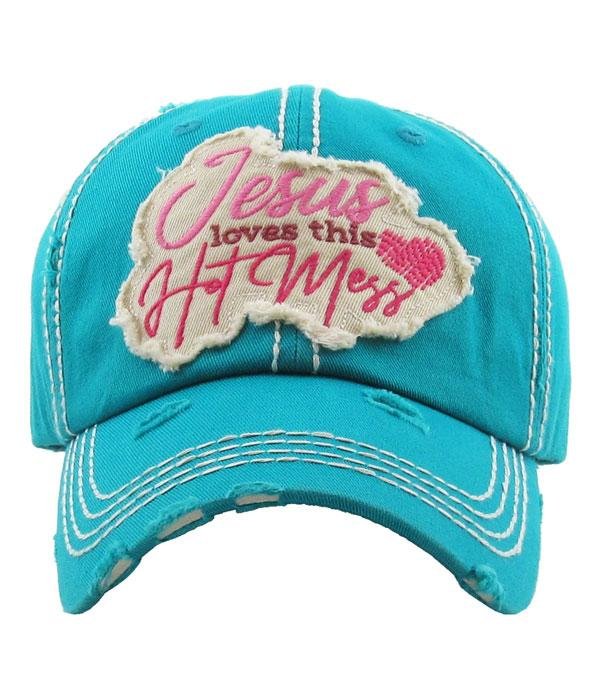 New Arrival :: Wholesale KB Ethos Jesus Loves This Hot Mess Hat