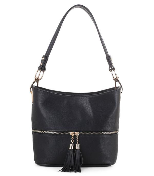 New Arrival :: Wholesale Vegan Leather Bucket Shoulder Bag