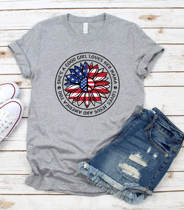 New Arrival :: Wholesale American Girl Patriotic Vintage Tshirt