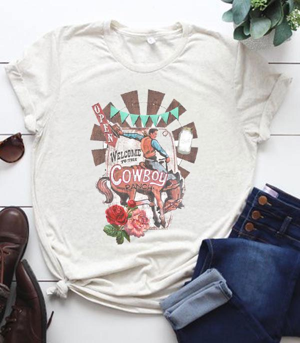 New Arrival :: Wholesale Cowboy Ranch Vintage Graphic Tshirt