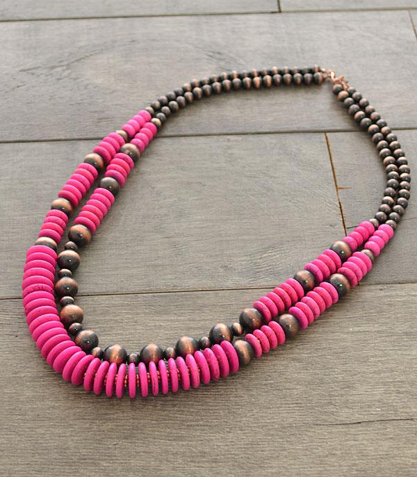 New Arrival :: Wholesale Navajo Pearl Layered Necklace