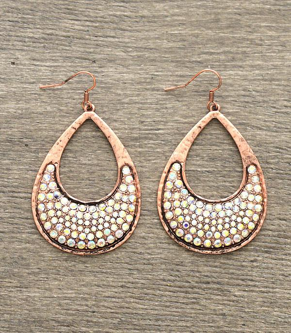 New Arrival :: Wholesale Rhinestone Teardrop Earrings