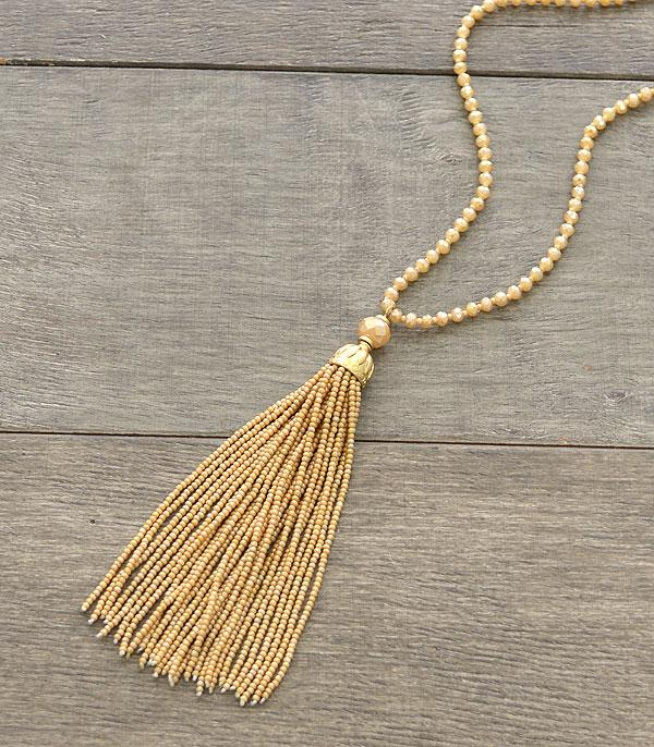 New Arrival :: Wholesale Seed Bead Tassel Necklace