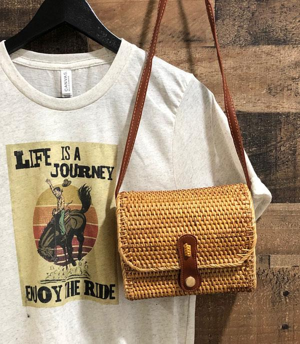 New Arrival :: Wholesale Handmade Rattan Crossbody Bag