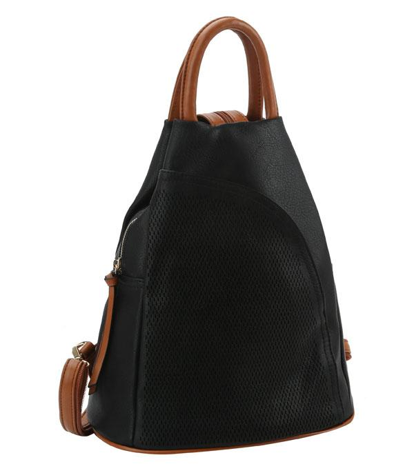 New Arrival :: Wholesale Soft Faux Leather Functional Backpack