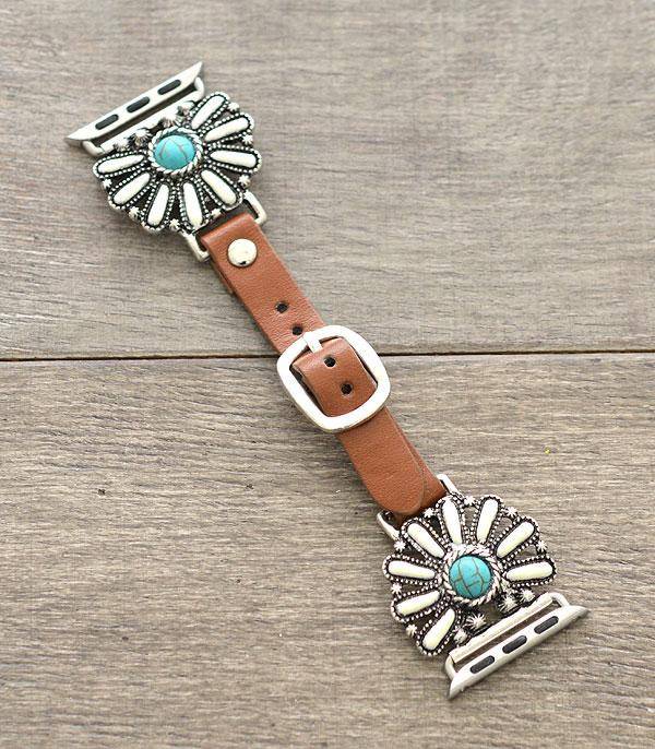 <font color=Green>FEATURES</font> :: APPLE WATCH BAND :: Wholesale Turquoise Western Apple Watch Band