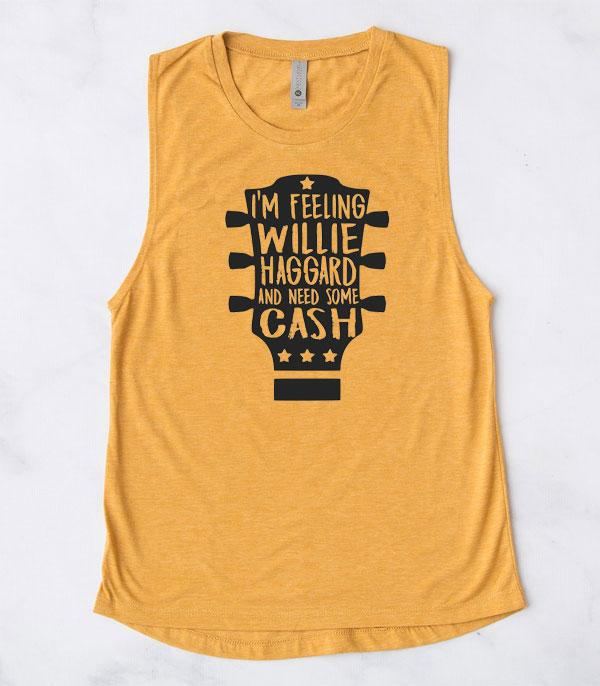 New Arrival :: Wholesale Western Willie Cash Muscle Tank