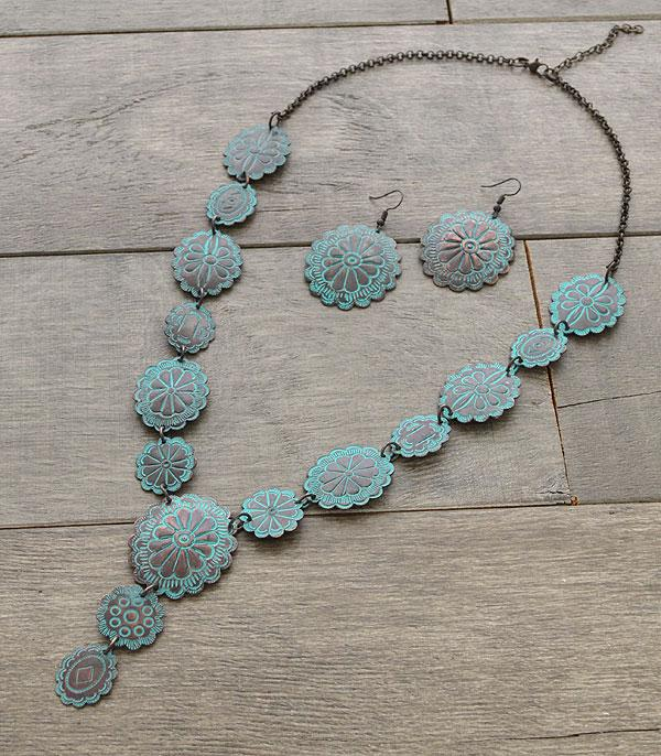 New Arrival :: Wholesale Western Silver Handmade Concho Necklace