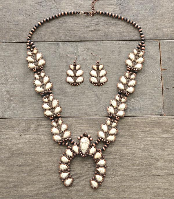 New Arrival :: Wholesale Navajo Pearl Squash Blossom Necklace