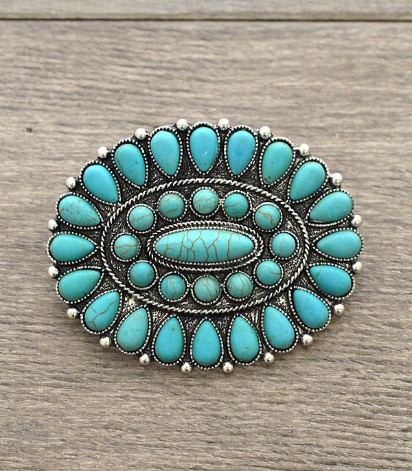 <font color=Turquoise>TURQUOISE JEWELRY</font> :: Wholesale Western Turquoise Hair Barrette