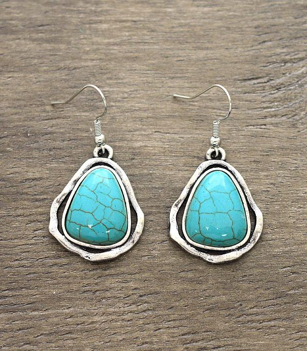 <font color=Turquoise>TURQUOISE JEWELRY</font> :: Wholesale Turquoise Tear Drop Earrings
