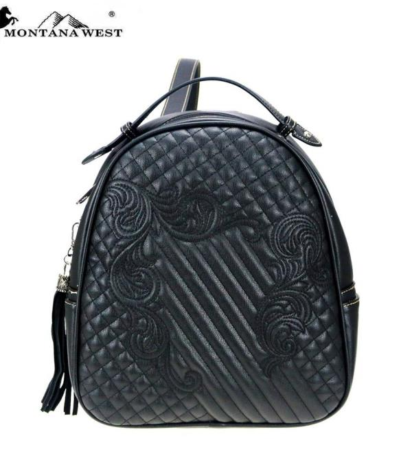 BACKPACKS | LUNCH BAGS :: Wholesale Montana West Quilted Backpack