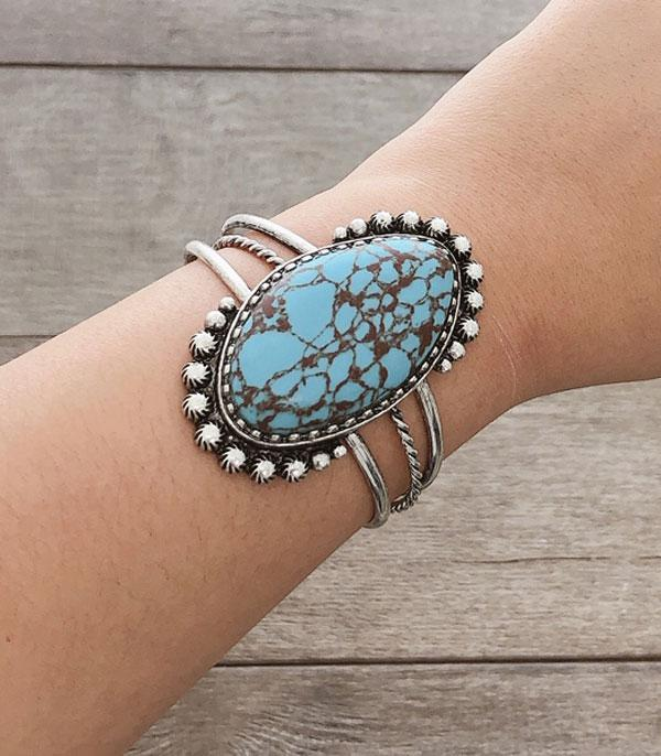 <font color=Turquoise>TURQUOISE JEWELRY</font> :: Wholesale Turquoise Stone Western Cuff Bracelet